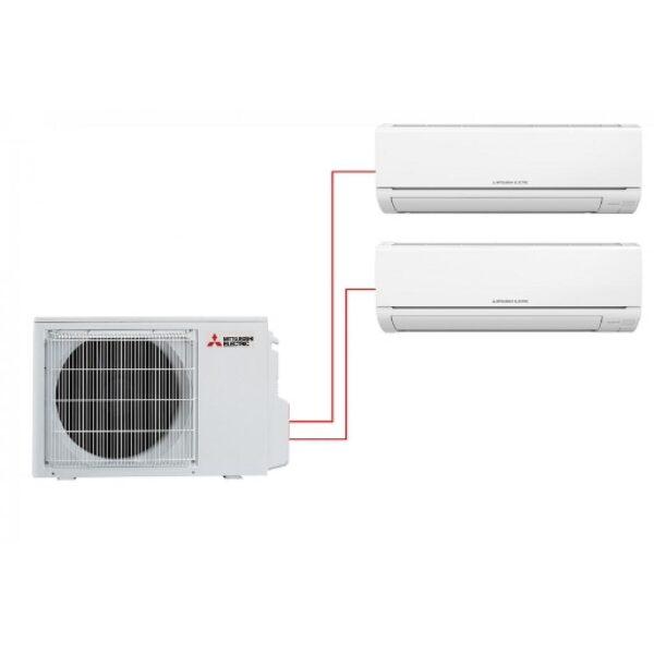 Мульти сплит-система Mitsubishi Electric MSZ-HJ25VA-ER1 + MSZ-HJ35VA-ER1 / MXZ-2HJ40VA-ER1