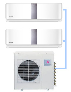 Мульти-сплит система Dantex RK-2M18HM2E-W (на 2 комнаты)