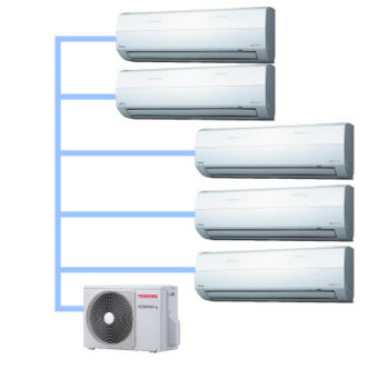 Мульти сплит-система внешний блок Toshiba RAS-4M27UAV-E (на 5 комнат)